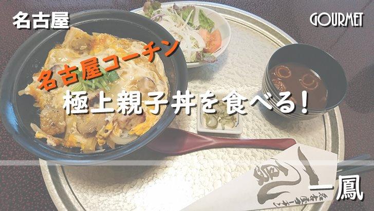 極上親子丼を食べに名古屋まで!「一鳳」で名古屋コーチンを味わう