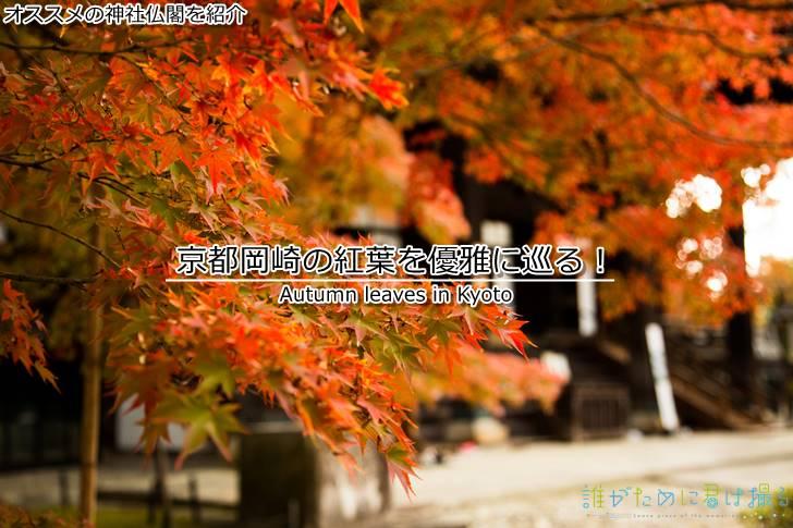 京都岡崎の紅葉を優雅に巡る!思い出に御朱印をそえて。